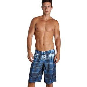 Diesel Deck Plaid Board Shorts size XXL
